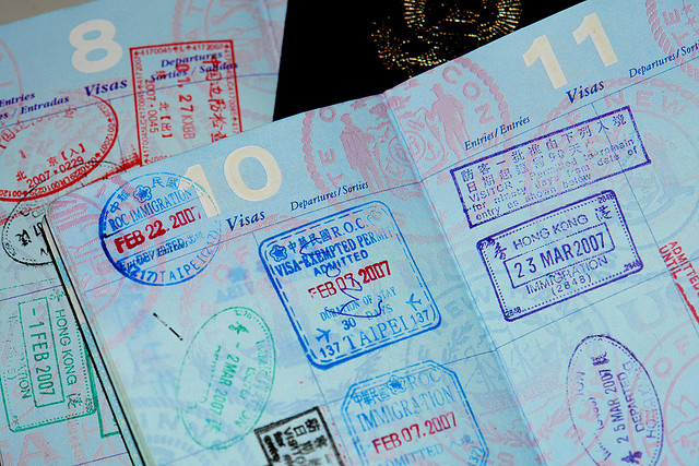 Image of open passport